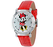 Disney Minnie Mouse Womens Vintage-Style Watch - J342269