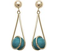 EternaGold Turquoise Bead Drop Earrings, 14K - J343069