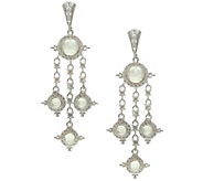 Judith Ripka Sterling & Moonstone Drop Earrings - J343269