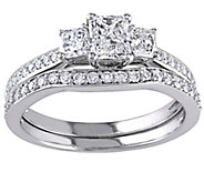 Radiant Cut & Round Diamond Set, 14K, 1.20 cttw, by Affinity - J344569
