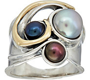 Hagit Sterling Silver & 14K Gold Cultured Pearl Ring - J347569