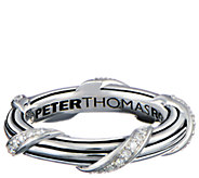 Peter Thomas Roth Sterling & Diamond Signature Band Ring - J347769