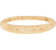 Arte dOro Large Textured Oval Bangle 18K Gold 21.1g - J349169