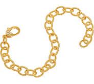 Judith Ripka Sterling & 14K Clad 7-1/4 Oval Link Bracelet - J350269