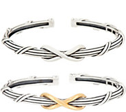 Peter Thomas Roth Sterling Silver or Clad Two-Tone Infinity Cuff - J353269
