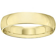 Womens 18K Yellow Gold 5mm Half-Round WeddingBand - J375469
