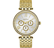 Caravelle New York Womens Goldtone Crystal Watch - J375969
