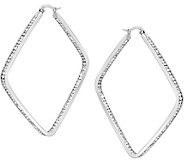 Stainless Steel Inside Out Square Hoop Earrings - J376369