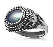 Carolyn Pollack Silverado Gray Mabe Shell Ring - J107670