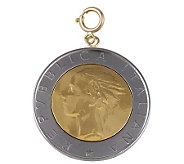 500-Lire Coin Charm, 14K Gold - J110570