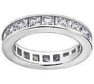 Diamonique Silk Fit Princess Eternity Band Ring , Platinum Cla - J111670