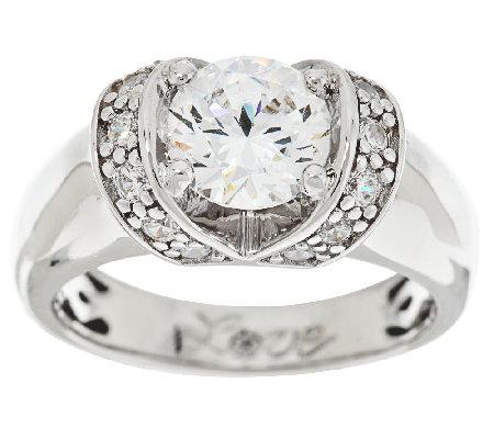 Diamonique Simulated Diamond Love Ring by Epiphany — QVC.com