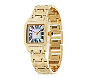 As Is Bronzo Italia Mother- of-Pearl Cushion Dial Band Watch - J268670