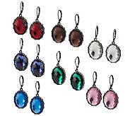 Joan Rivers 7 Days of Color Lever Back Earrings - J272970