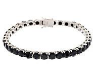 16.00 ct tw Black Spinel 6-3/4 Tennis Bracelet, Sterling - J276070
