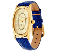 Veronese 18K Clad Oval Case Pebble Strap Watch - J277770