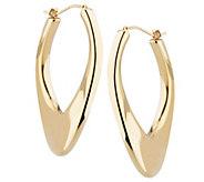 As Is Oro Nuovo Twist Design Hoop Earrings, 14K Gold - J290670