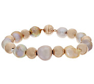 Honora 10.5mm - 12.0mm Ming Cultured Pearl Bronze Bead Bracelet - J292170