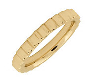 Simply Stacks Sterling 18K Yellow Gold-Plated 3.25mm Step Ring - J298070