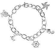Diamond Charm Bracelet, Sterling, 1/5cttw by Affinity - J310170