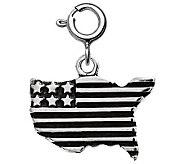 Sterling USA Flag Charm - J311170