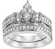 Marquise Diamond 2-Pc Diamond Ring, 14K, 2/3cttw, by Affinity - J311370