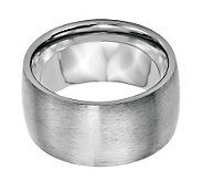 Stainless Steel 12mm Brushed Ring - J314270