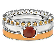 Simply Stacks Sterling Rustic Fall Ring Set - J314570