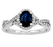 1.00 ct Oval Sapphire & 1/6 cttw Diamond Ring, 14K Gold - J315970