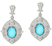 Judith Ripka Sterling 4.60 cttw Diamonique Earrings - J321970