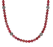Carolyn Pollack Sterling Silver 18 Signature Bead & Gemstone Necklace - J322870
