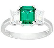 Diamonique Simulated Gemstone Ring, Platinum Clad - J326070