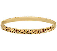 14K Gold Small Byzantine Round Slip-on Bangle Bracelet, 10.2g - J328270