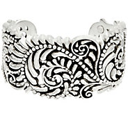 Sterling Silver Beaded Scroll Design Cuff by Or Paz - J329570