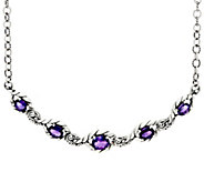 Carolyn Pollack Sterling Silver 7.00  cttw Amethyst Adj. Necklace - J330770
