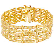 Arte dOro 7-1/4 Woven Bead Bracelet 18K Gold 33.5g - J331070