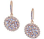 As Is Graziela Gems Tanzanite 18K/ Sterling Drop Earrings, 6cttw - J332170