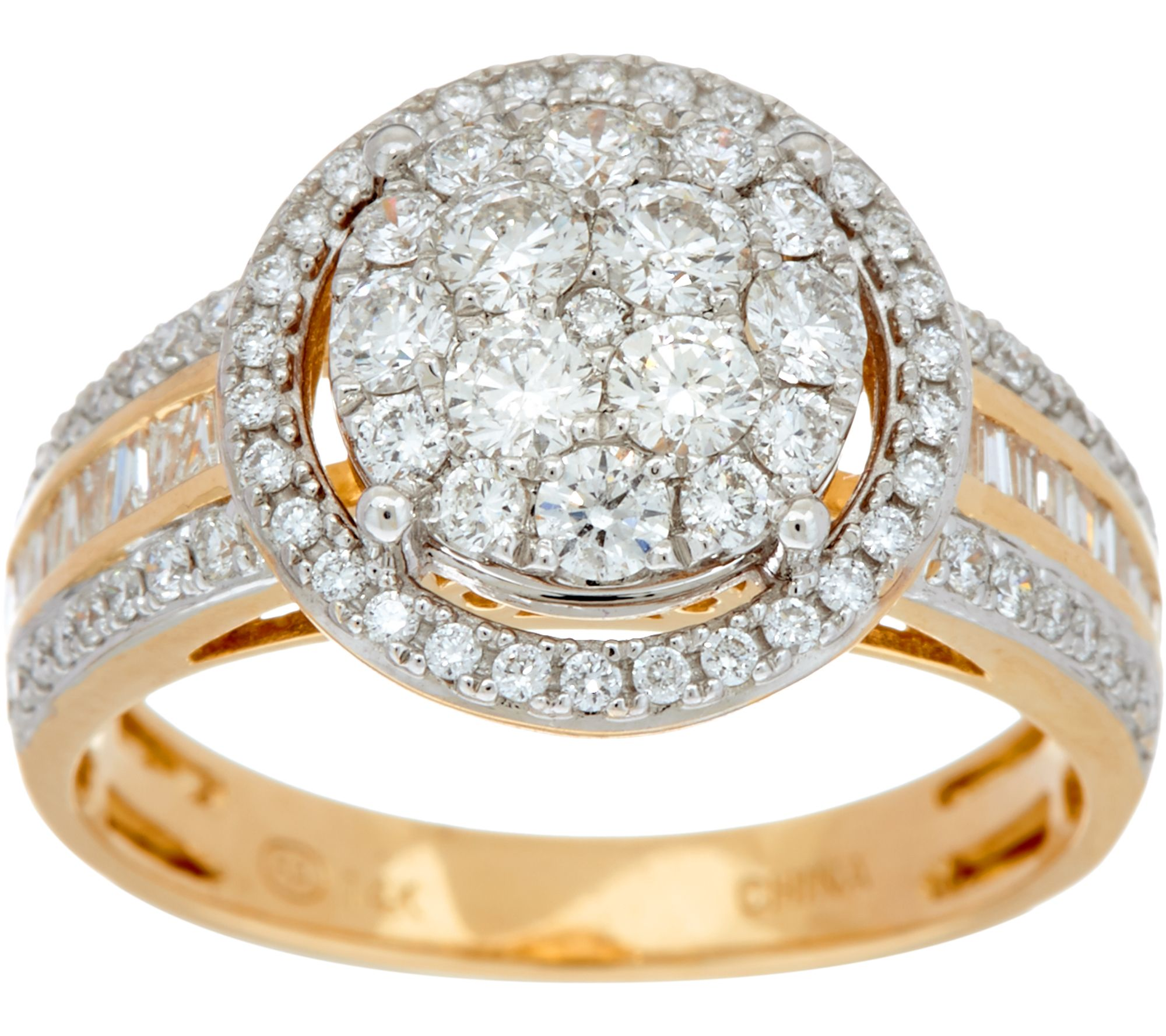 pin round band h gold certified multi yellow diamond tdw row i bands sofia