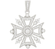 Judith Ripka Sterling Silver Diamonique Maltese Cross Ehnancer - J348070