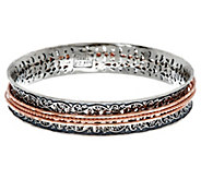 Sterling Silver Textured Spinner Bangle 32.0g by Or Paz - J348270