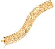 Italian Gold 7-1/4 Wide Mesh Design Bracelet, 14K, 18.4g - J348770