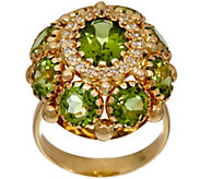 Arte d Oro 5.80 cttw Gemstone Ring, 18K Gold - J349170