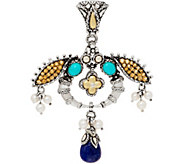 Barbara Bixby Sterling & 18K Multi-Gemstone Egyptian Bee Enhancer - J350470