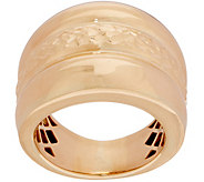 Italian Gold Triple Row Band Ring, 14K Gold - J350970