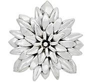 Or Paz Sterling Polished Dahlia Pin / Pendant - J351570