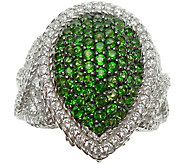 Judith Ripka Sterling & Chrome Diopside Pave Ring - J376870