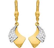 14K Two-tone Double Comma Lever Back Earrings - J377270
