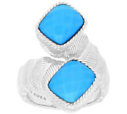 Judith Ripka Sterling Turquoise Bypass Ring - J380270
