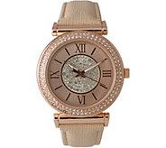 Olivia Pratt Womens Elegant Center Sparkle Leather Watch - J380470