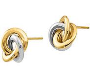 14K Gold Round Love Knot Earrings - J381670